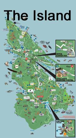 Map Of Salt Spring Island Salt Spring Adventure Map | Directions to Fun on Salt Spring Island